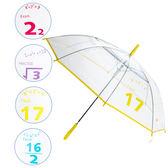 樂嫚妮 自動開傘/直立透明雨傘-數學程式