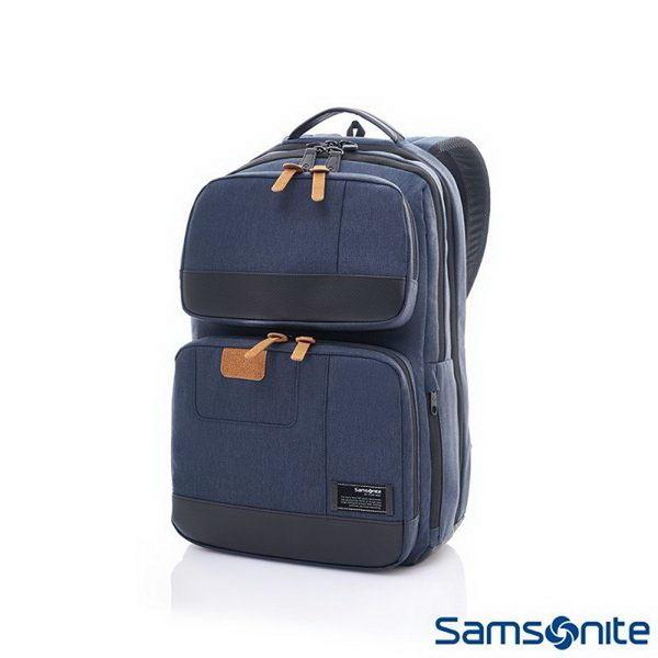 Samsonite新秀麗 (促銷價7折) Avant極輕盈耐磨時尚筆電後背包-15.6吋(丹寧藍)