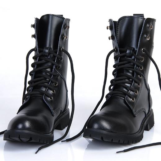 男靴 英倫韓版馬丁靴男士真皮軍靴皮靴子男高筒機車靴