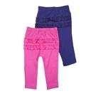 女寶寶長褲 二件組 屁屁花邊造型褲子 深藍粉   Carter s卡特童裝 (嬰幼兒/兒童/小孩/小朋友/新生兒)
