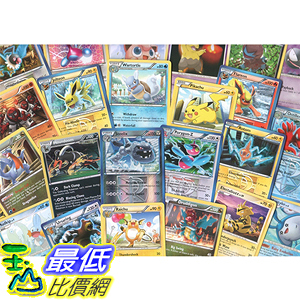[美國直購] 神奇寶貝 精靈寶可夢周邊 100 Assorted Pokemon B00YSWUDGM Trading Cards with 7 Bonus Free Holo Foils