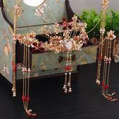 新年鉅惠 新娘頭飾中式復古裝金色龍鳳褂秀禾服配飾鳳冠霞帔發飾結婚飾品