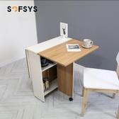 摺疊餐桌 家用 餐桌小戶型 桌長方形餐桌吃飯桌可伸縮 源治良品