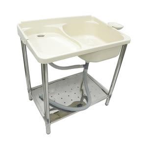 富麗洗衣槽附皂盤 52x77x83cm ABS不鏽鋼腳架