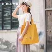 新年好禮 帆布包女單肩韓版學生簡約ulzzang大容量便攜折疊袋子環保購物袋