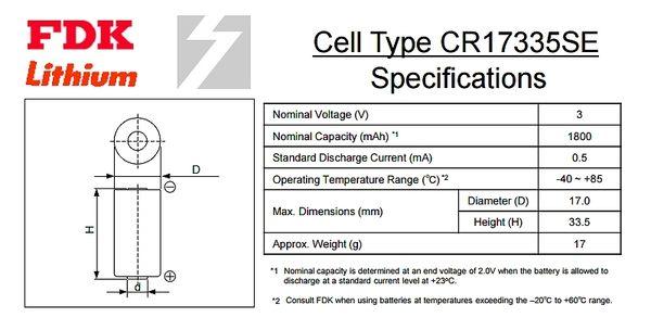 ✚久大電池❚ 日本 FDK 三洋 SANYO CR17335SE 3V 二號中橙頭 一次性鋰電【PLC工控電池】FD11