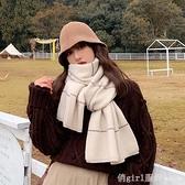 圍巾 ins 圍巾女冬季韓版純色簡約條紋百搭學生針織加厚秋冬保暖圍脖潮 618購物節