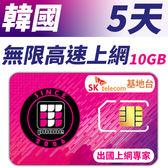 【TPHONE上網專家】韓國 高速上網卡 5天無限上網 (前面10GB 支援4G高速)