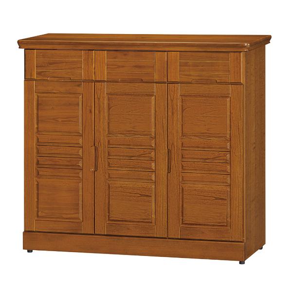 【采桔家居】艾奎羅 時尚4尺實木三門中鞋櫃/玄關櫃