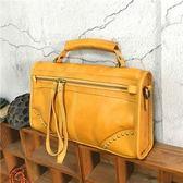 手提包-植鞣皮歐美個性時尚有型女側背包5色73sv31【巴黎精品】