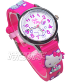 HELLO KITTY 凱蒂貓 甜心夢鄉 俏麗腕錶 立體矽膠錶帶 桃紅色 女錶 KT075LWWP1