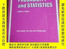 二手書博民逛書店PROBABILITY罕見AND STATISTICS(SCHA