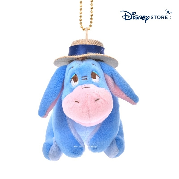 【SAS】日本限定 迪士尼商店 Disney Store 小熊維尼家族 屹耳 草帽版 珠鍊吊飾玩偶娃娃