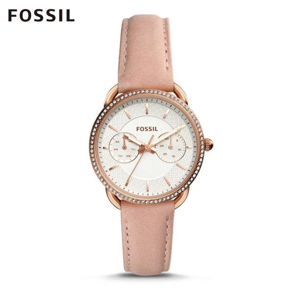 FOSSIL TAILOR 環鑽杏桃玫瑰金手錶 女 ES4393
