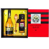 【養蜂人家】雙喜醋蜜禮盒(優選Taiwan特產蜂蜜425g+蜂蜜醋600ml)