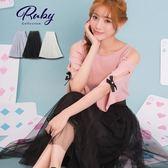 裙子 素色三層紗裙-Ruby s露比午茶