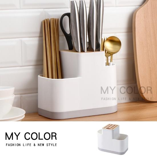 筷子架 瀝水架 餐具收納架 餐具架 筷子盒 橡木收納盒 筷筒 廚具收納架【N118】MY COLOR
