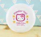 【震撼精品百貨】Hello Kitty 凱蒂貓~KITT粉餅盒-白花圖案
