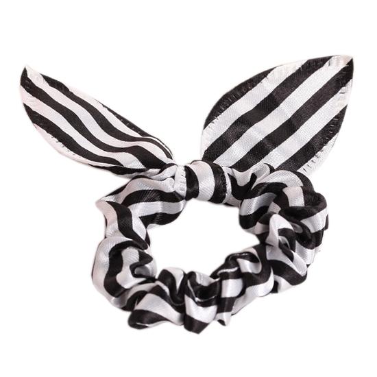 髮圈 髮束 髮飾 高彈力 韓版 髮繩 橡皮筋 飾品 批發 手繩 兔耳髮圈(1入) 【Z222】MY COLOR