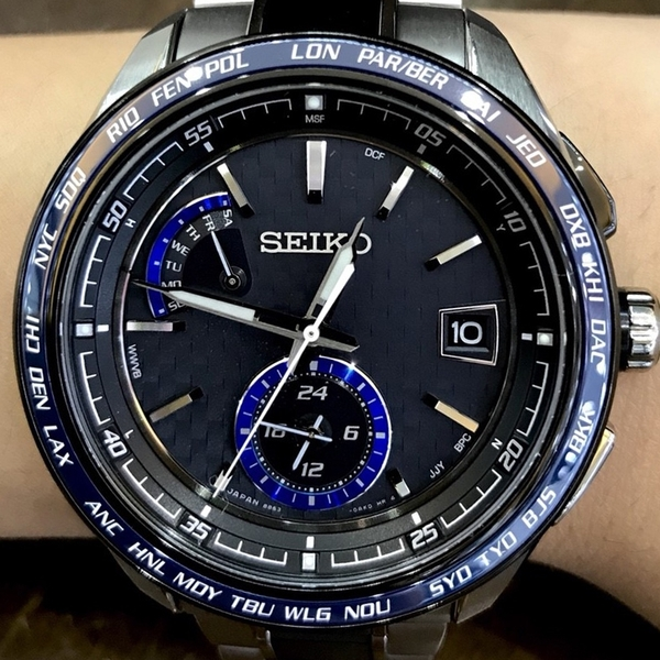 [萬年鐘錶]  SEIKO 精工 BRIGHTZ 太陽能電波  防水百米 鈦金屬 大錶徑 43mm SAGA261J (8B63-0AN0B )