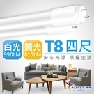 【ADATA威剛】 18W T8 4尺 LED 高效玻塑燈管-12入組白光