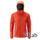 【RAB 英國】DOWNPOUR 男 超輕量防風防水外套『橘』QWF61 雨衣 夾克