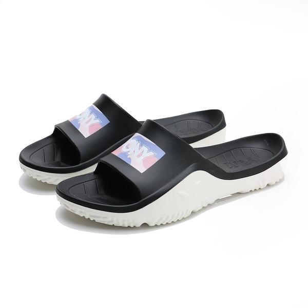 PONY 黑粉紫迷彩 拖鞋 拖鞋 防水 膠拖 拖鞋 男女 (布魯克林) 02U1FL03PK