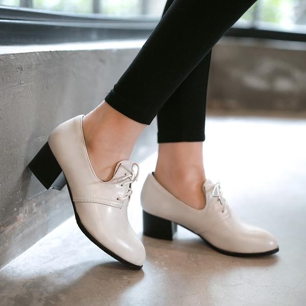 大尺碼女鞋41-47【現貨出清】凱莉密碼 風靡歐洲時尚流行英式摩登牛津鞋4.5cm【HL99-1】