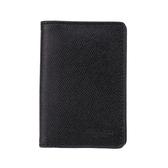 COACH 防刮皮革對開票卡夾名片夾(黑色)