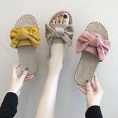 拖鞋女外穿時尚百搭夏海邊沙灘仙女風新款網紅懶人鞋涼拖鞋 韓小姐