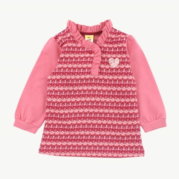【愛的世界】針織花邊領上衣/2~4歲-台灣製-