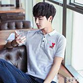 夏季新款有領男士短袖體恤韓版時尚潮流修身翻領polo衫 CJ2702『美好時光』