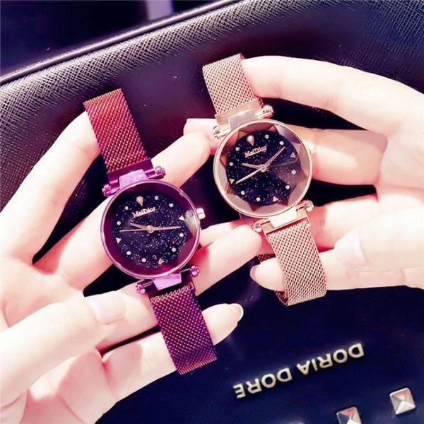 抖音同款美迪奧斯滿天星星空手錶女學生韓版簡約時尚英國法國小眾