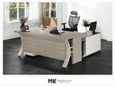 【MK億騰傢俱】ES612-02花樣6尺主管桌(不含側櫃、活動櫃)