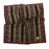 FENDI雙F鍊帶條紋純棉帕巾(紅邊)989006-17
