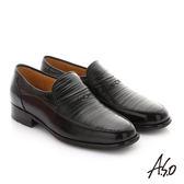 A.S.O 勁步雙核心 全真皮奈米紳士鞋 黑