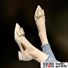 低跟單鞋女年春秋尖頭淺口小香風法式一腳蹬尖頭鞋品牌【邦邦男裝】