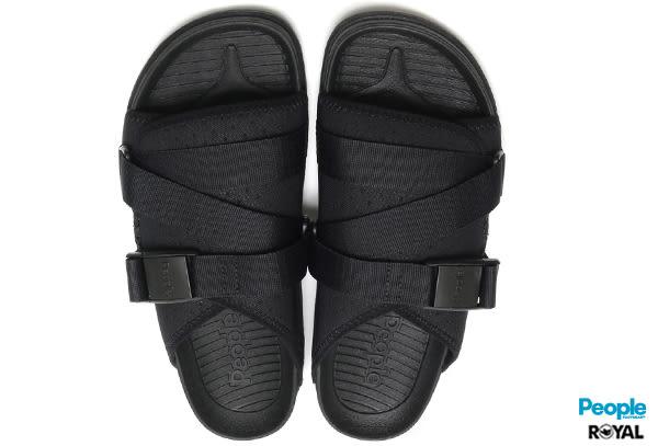 PEOPLE 新竹皇家 The Lennon Chiller 黑色 扣帶 輕量 涼拖鞋 男女款 NO.A7437