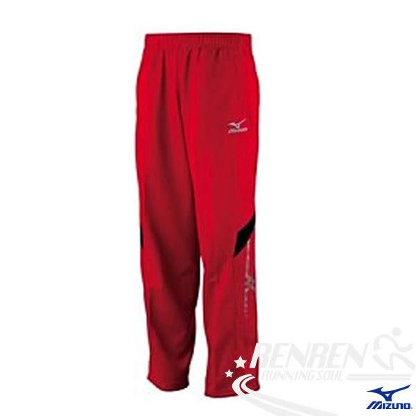 MIZUNO美津濃  男針織長褲 (紅)  運動套裝下  32JD401062