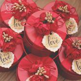 6個9個裝 結婚喜糖盒鐵盒糖果盒婚禮喜糖禮盒裝【步行者戶外生活館】