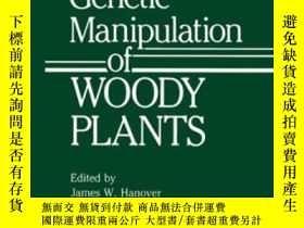 二手書博民逛書店Genetic罕見Manipulation Of Woody Plants (basic Life Science