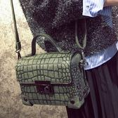 石頭紋鎖扣小包鉚釘盒子包斜背包女包...3色...流行線