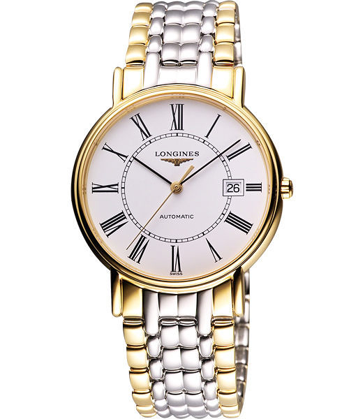 LONGINES 浪琴 Presence 經典羅馬機械腕錶/手錶-半金 L49212117