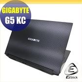 【Ezstick】GIGABYTE G5 KC Carbon黑色紋機身貼 (含上蓋貼、鍵盤週圍貼) DIY包膜