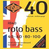 小叮噹的店 英國ROTOSOUND RB40 (40-100) 鎳弦 電貝斯弦 旋弦公司貨