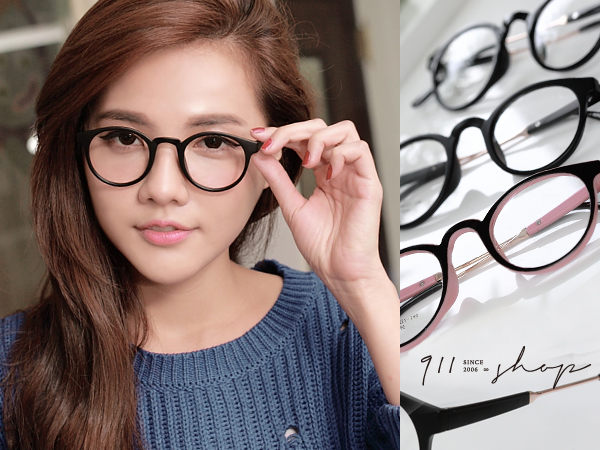 XOXO.文青風格。TR90塑膠鈦X金屬橢圓框光學配鏡框眼鏡【p640】*911 SHOP*