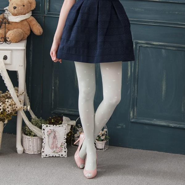 120D高質感蝴蝶結提花褲襪絲襪(灰色)