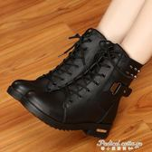 馬丁靴英倫風雪地棉鞋加絨學生短靴女鞋子韓版潮粗跟女靴子·蒂小屋