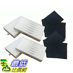 [出清只有1個] 4 Honeywell 'R' Air Purifier Filter & 2 'A' Carbon Filter Kit Fits HPA090 HPA100 series (_U80)