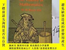 二手書博民逛書店A罕見Short Account of the History of MathematicsY15335